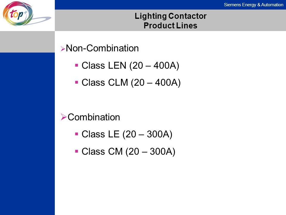 Lighting Contactor Product Lines