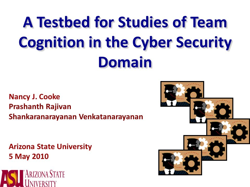 A Testbed for Studies of Team Cognition in the Cyber Security Domain