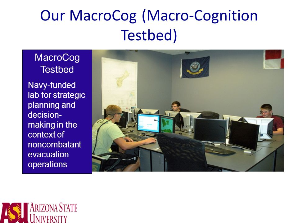 Our MacroCog (Macro-Cognition Testbed)