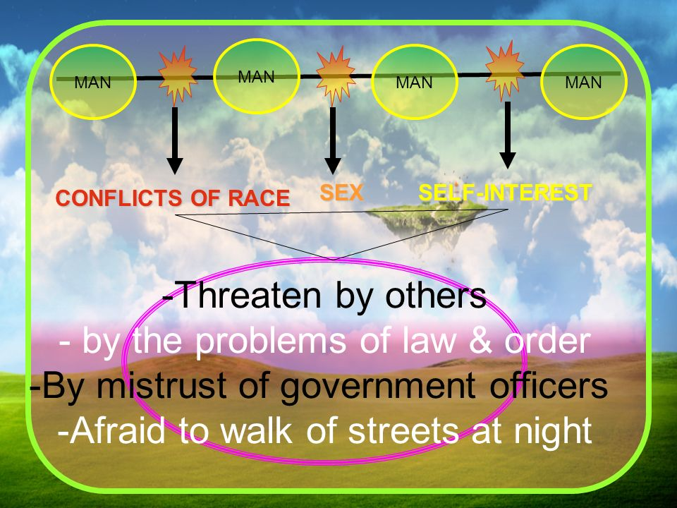 by the problems of law & order By mistrust of government officers