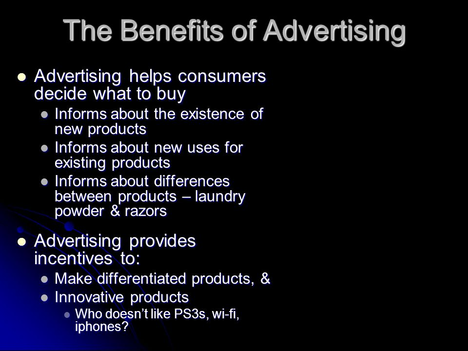 The Benefits of Advertising