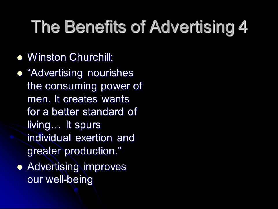 The Benefits of Advertising 4