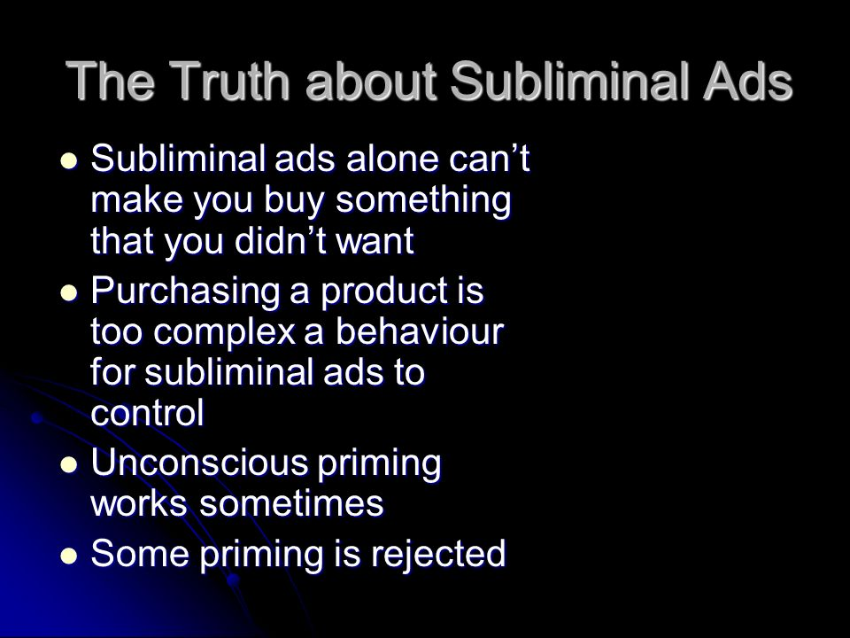 The Truth about Subliminal Ads