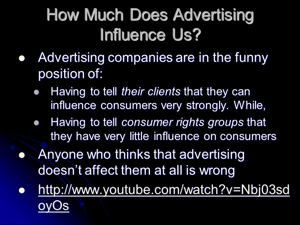 How Much Does Advertising Influence Us