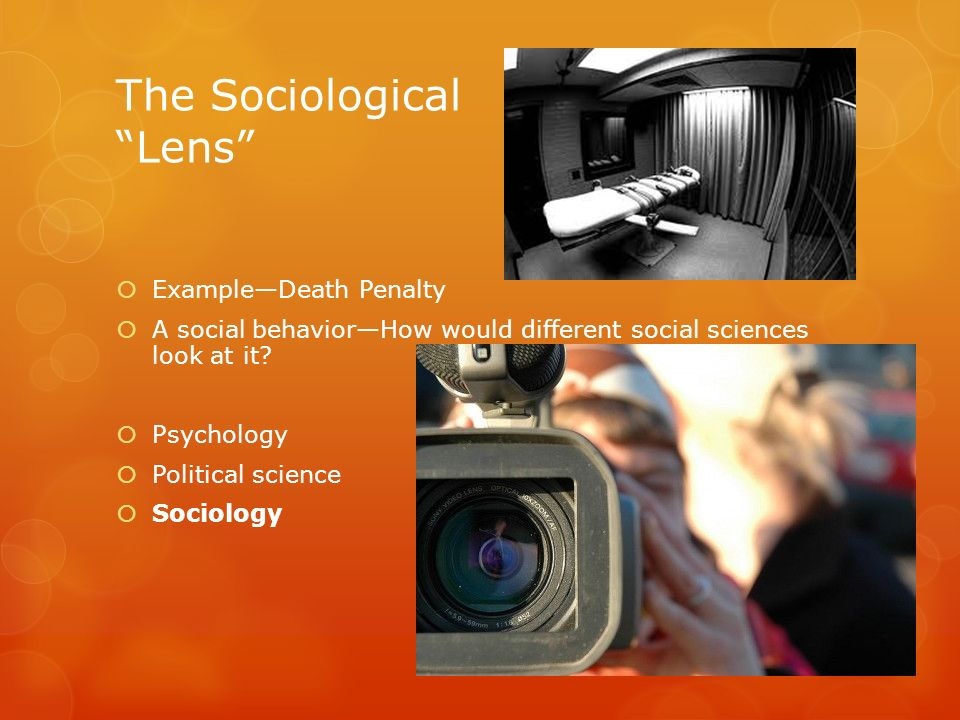The Sociological Lens