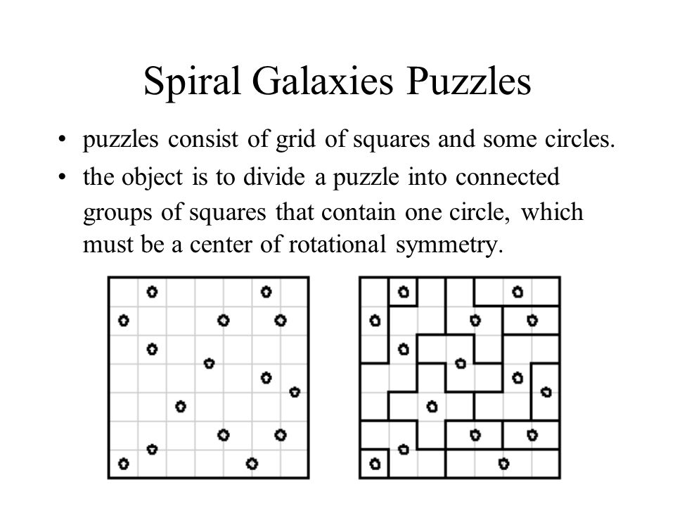 Spiral Galaxies Puzzles