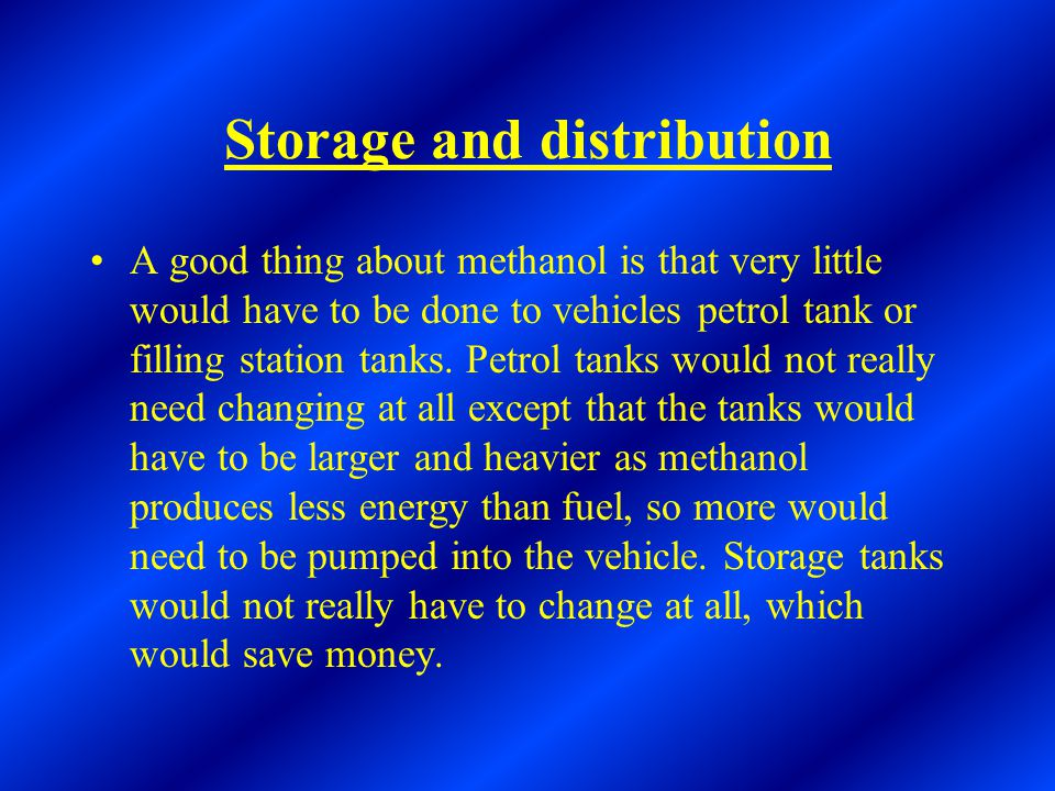 Storage and distribution