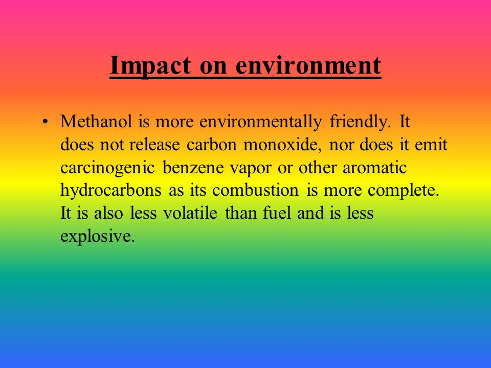 Impact on environment