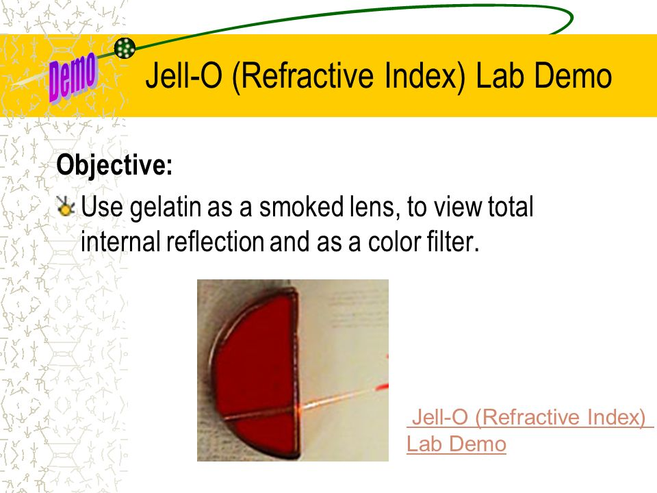 Jell-O (Refractive Index) Lab Demo