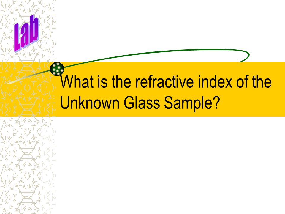 What is the refractive index of the Unknown Glass Sample