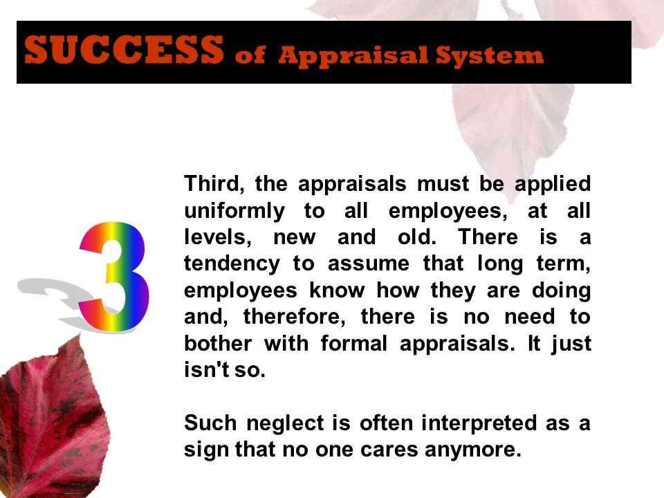 SUCCESS of Appraisal System