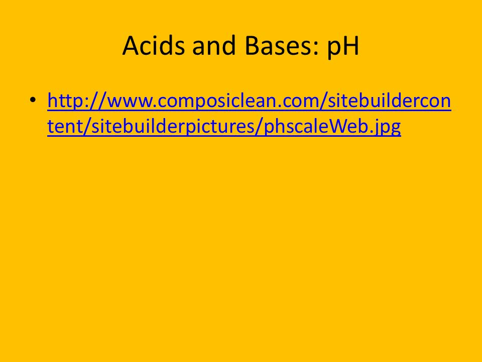 Acids and Bases: pH
