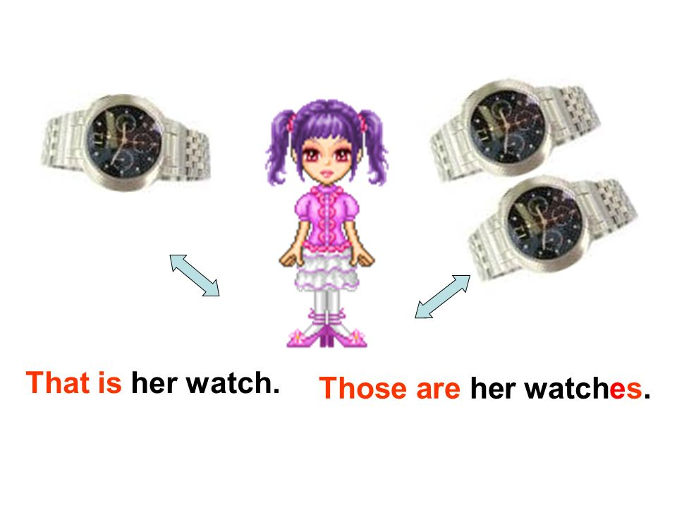 That is her watch. Those are her watches.
