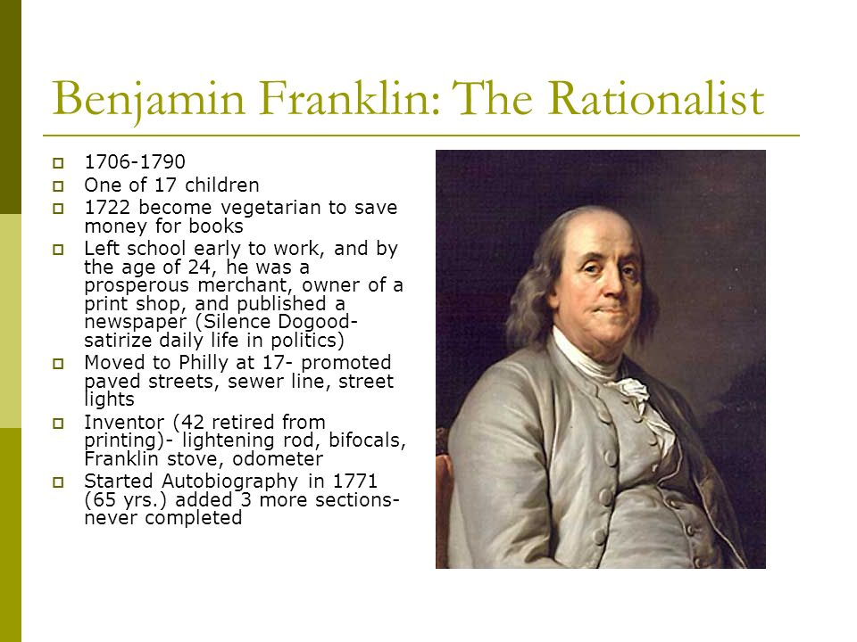 Benjamin Franklin: The Rationalist