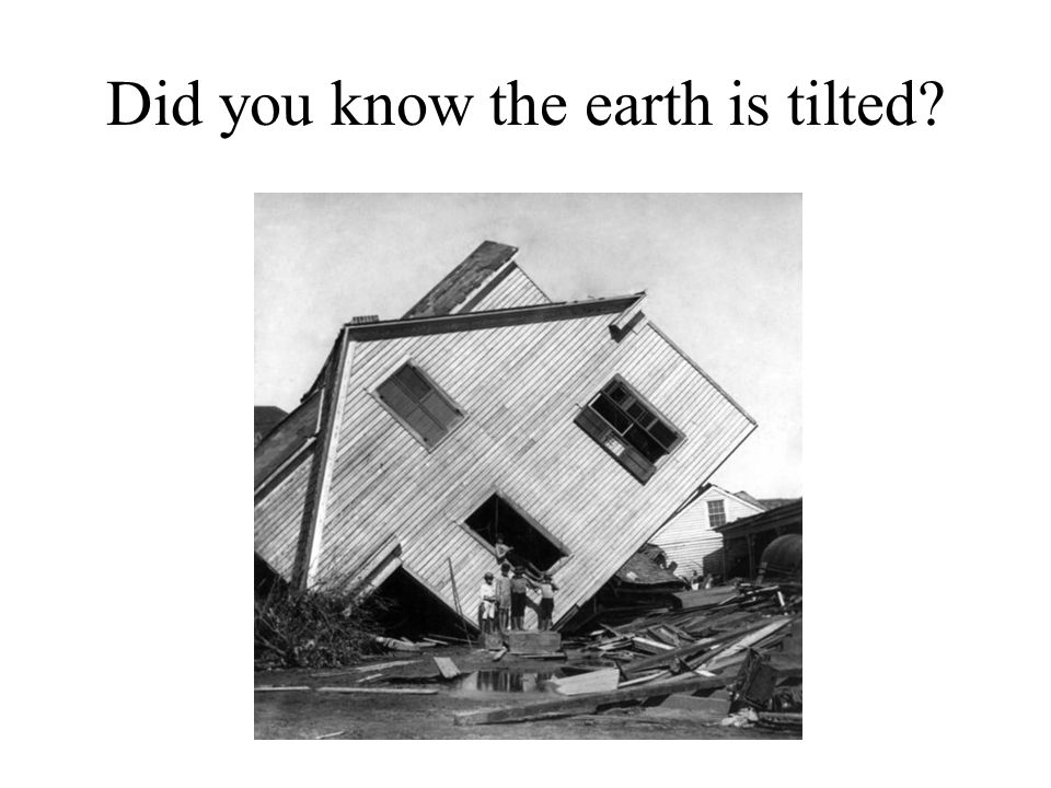 Did you know the earth is tilted
