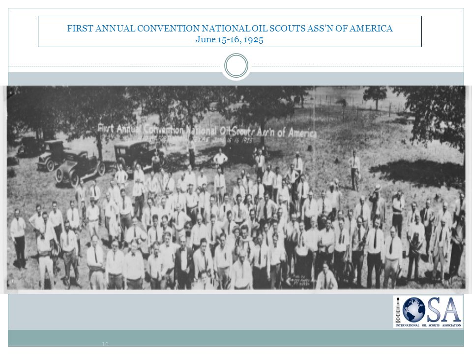 FIRST ANNUAL CONVENTION NATIONAL OIL SCOUTS ASS'N OF AMERICA June 15-16, 1925