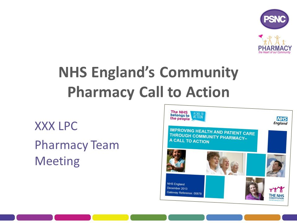 NHS England's Community Pharmacy Call to Action