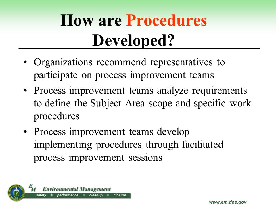 How are Procedures Developed