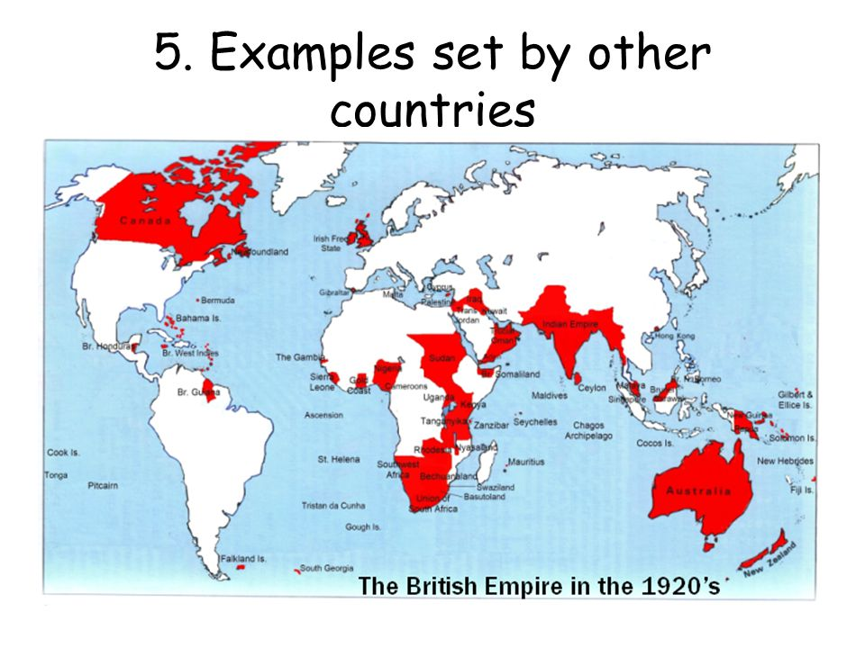 5. Examples set by other countries