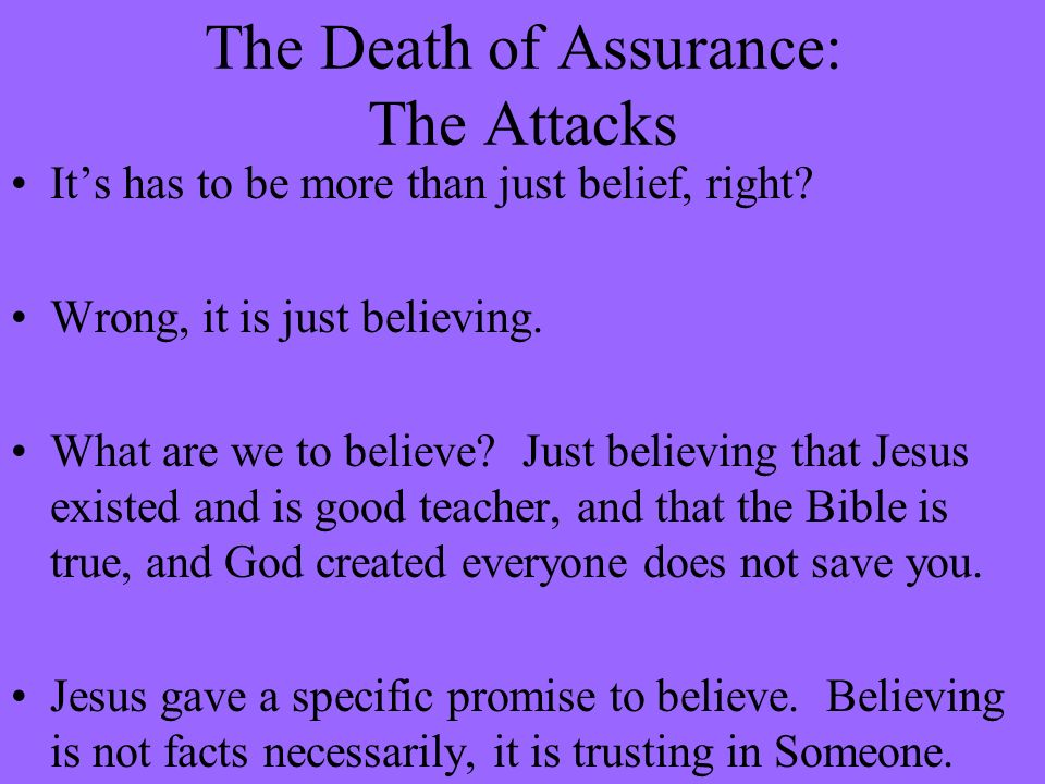 The Death of Assurance: The Attacks