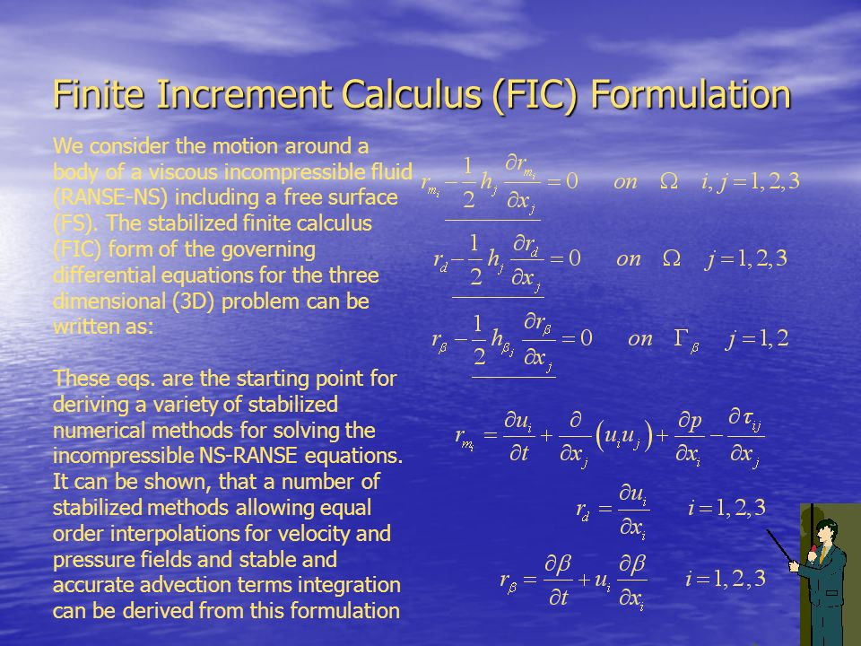 Finite Increment Calculus (FIC) Formulation