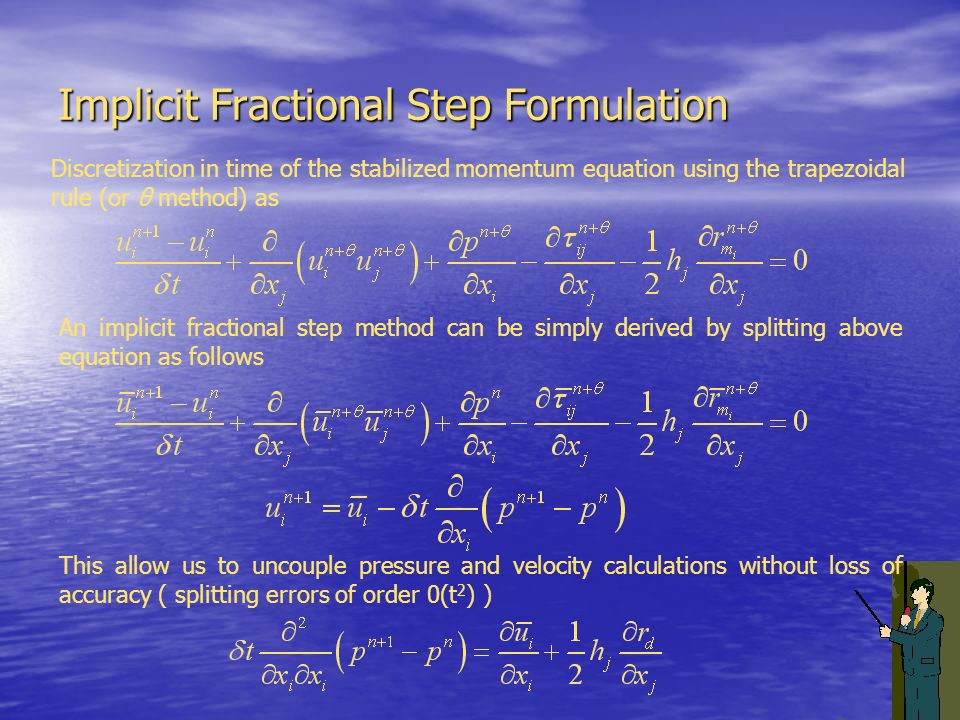 Implicit Fractional Step Formulation