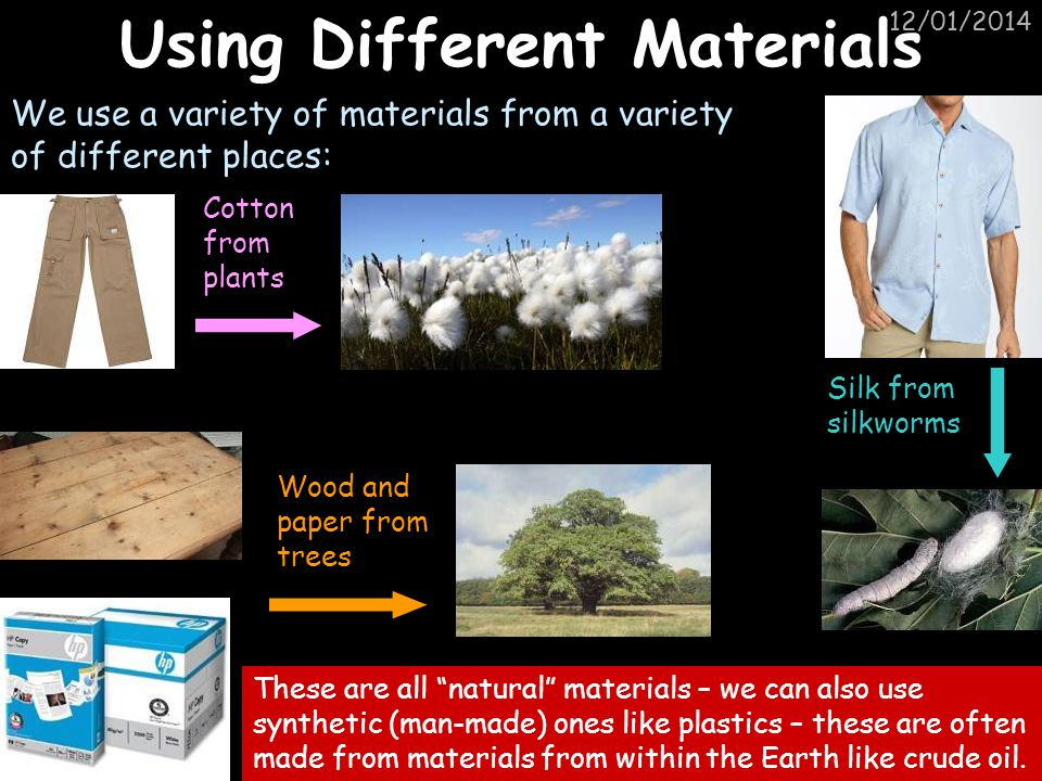 Using Different Materials