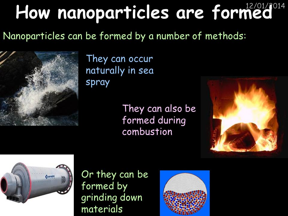 How nanoparticles are formed
