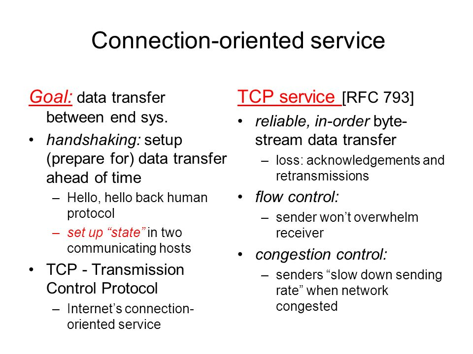 Connection-oriented service