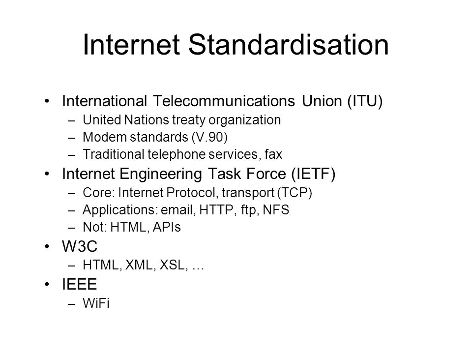 Internet Standardisation
