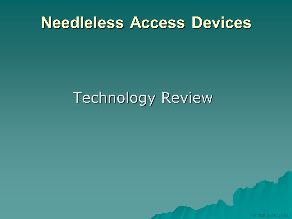 Needleless Access Devices