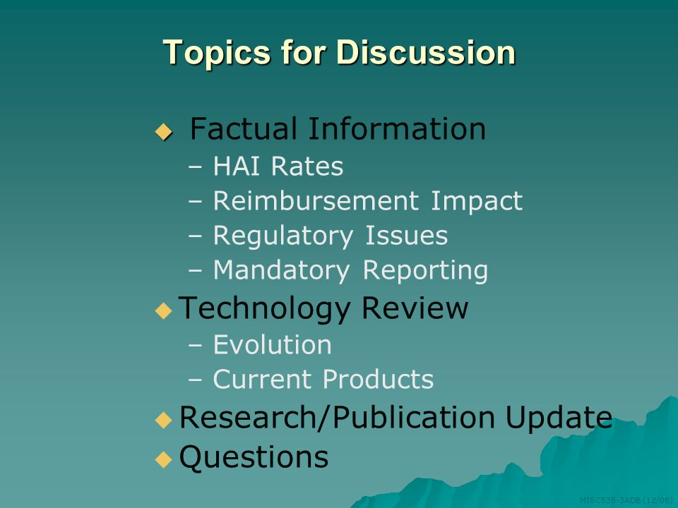 Topics for Discussion Factual Information Technology Review