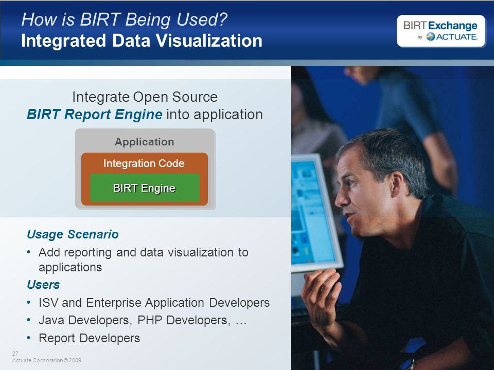 How is BIRT Being Used Integrated Data Visualization