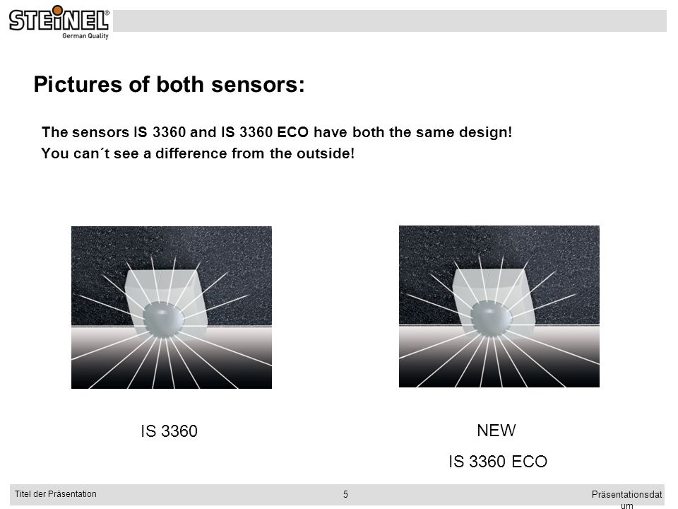 Pictures of both sensors: