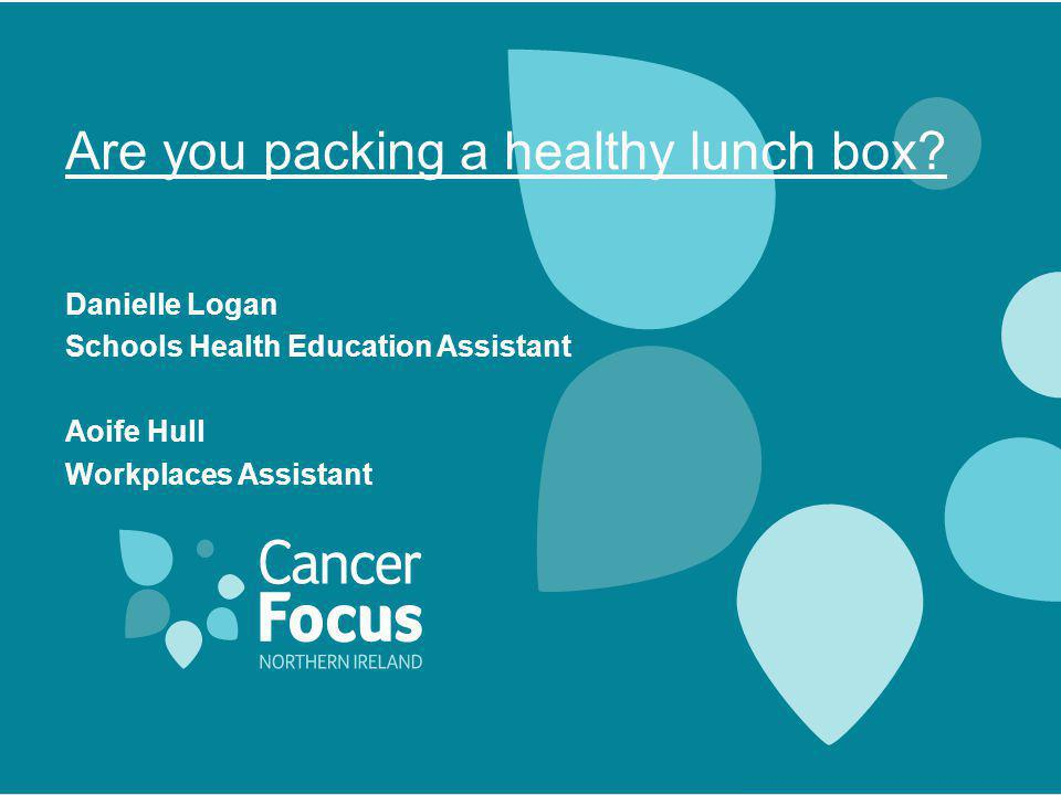 Are you packing a healthy lunch box