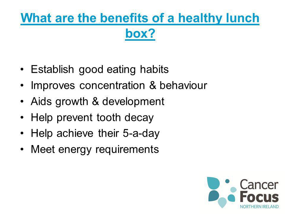 What are the benefits of a healthy lunch box
