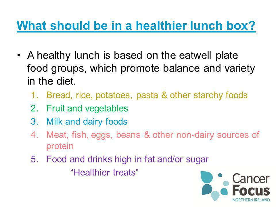 What should be in a healthier lunch box