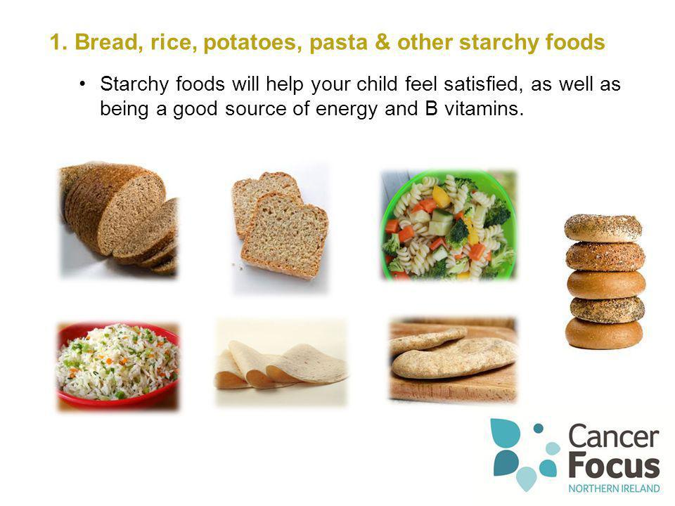 Bread, rice, potatoes, pasta & other starchy foods