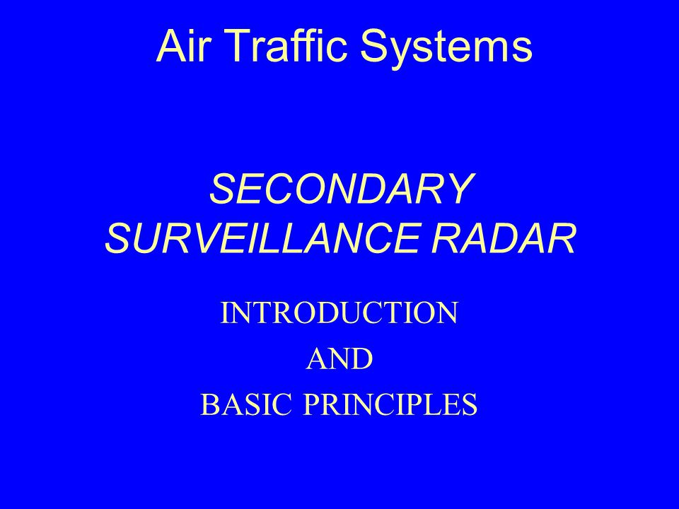 Air Traffic Systems  - ppt video online download
