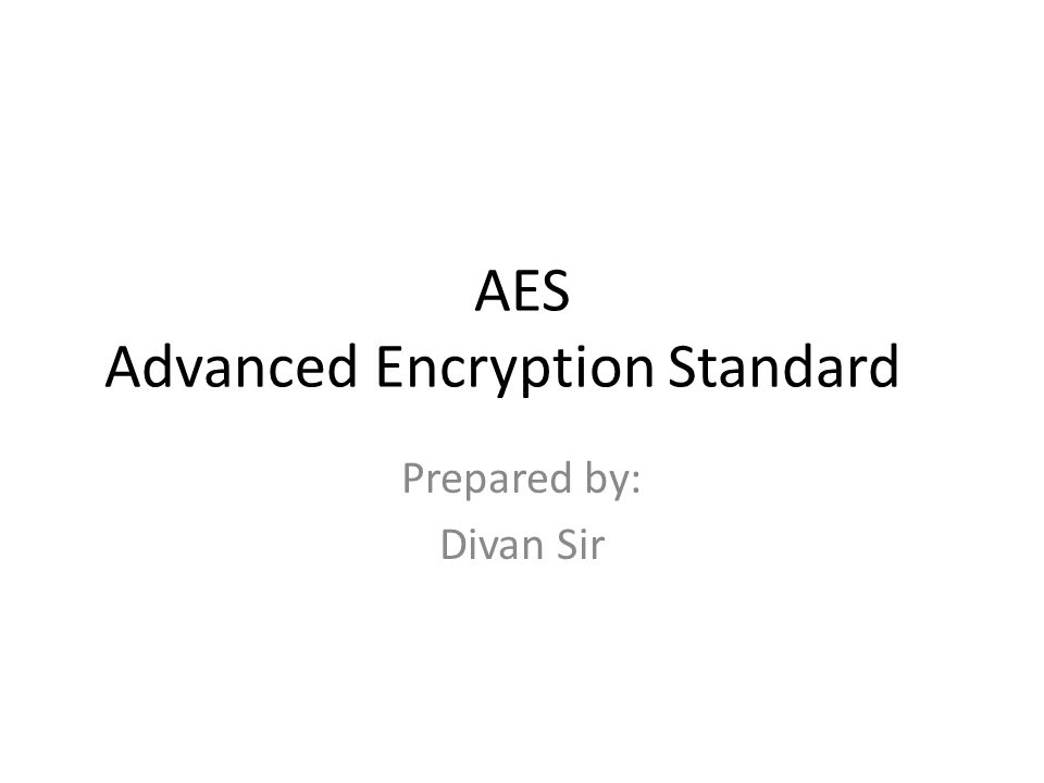 AES Advanced Encryption Standard