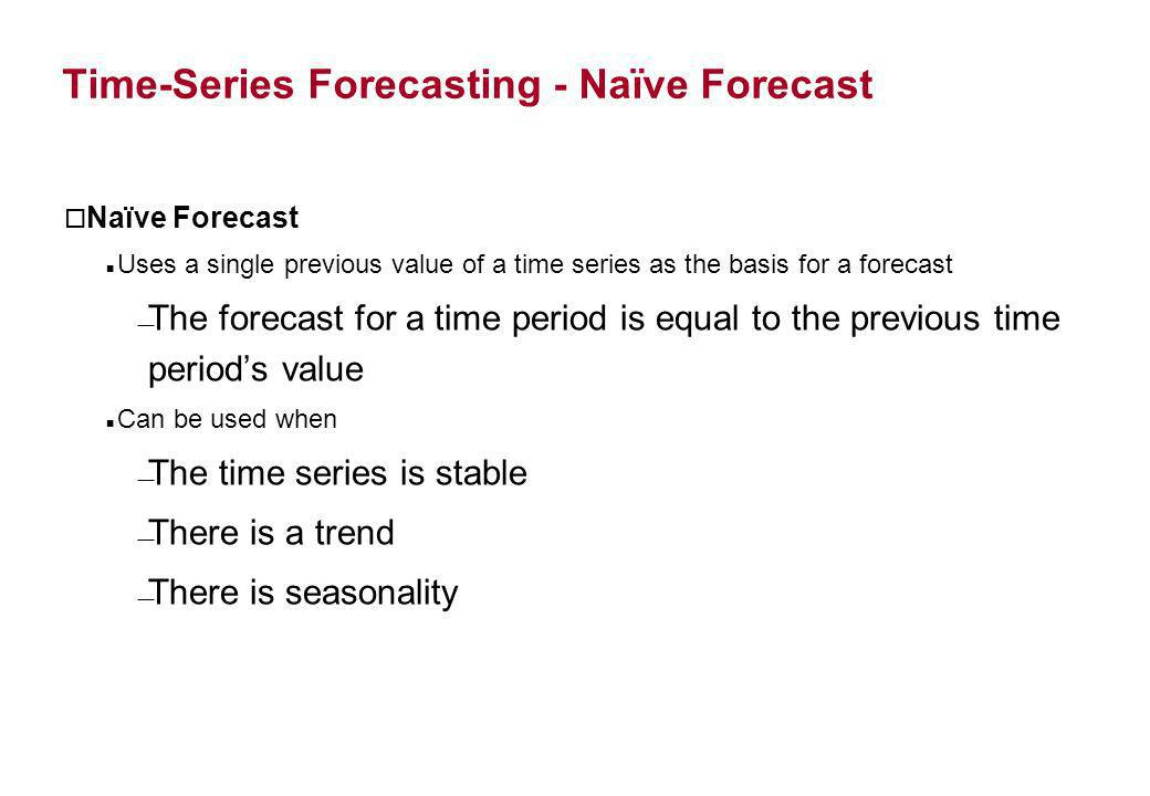 Time-Series Forecasting - Naïve Forecast