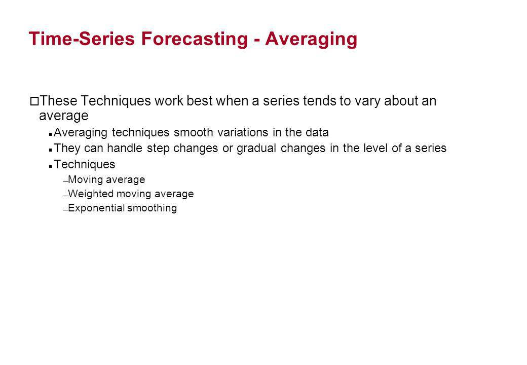 Time-Series Forecasting - Averaging