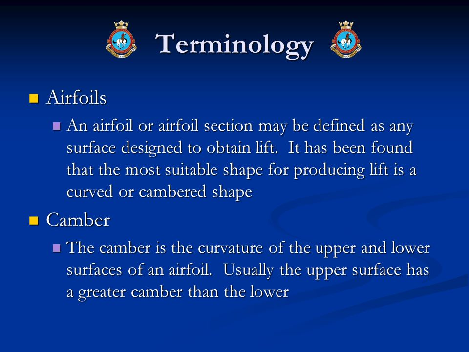Terminology Airfoils Camber
