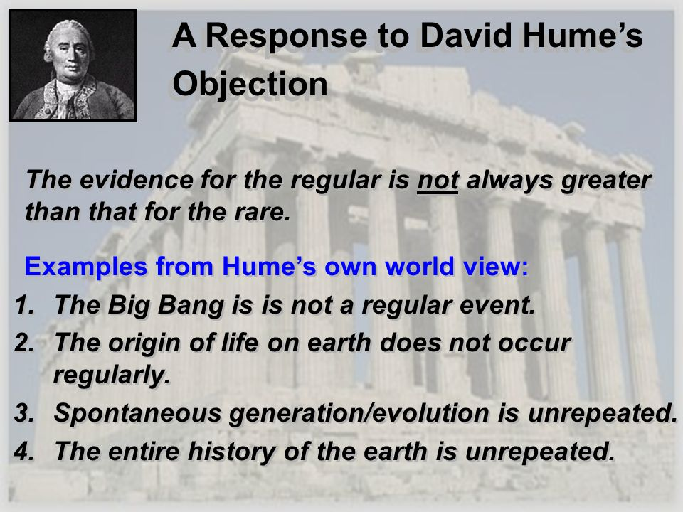 A Response to David Hume's Objection