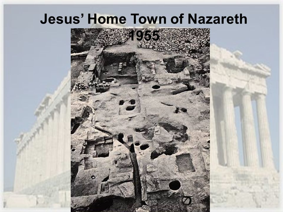 Jesus' Home Town of Nazareth 1955