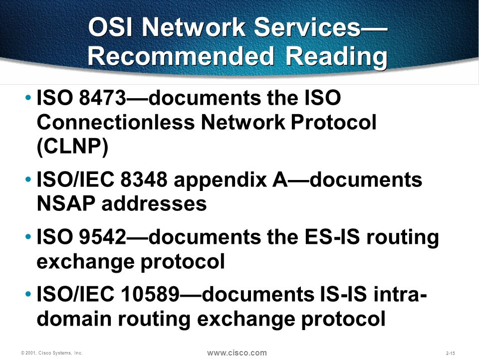 OSI Network Services—Recommended Reading