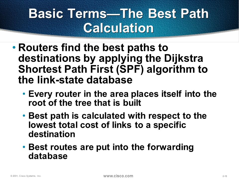 Basic Terms—The Best Path Calculation