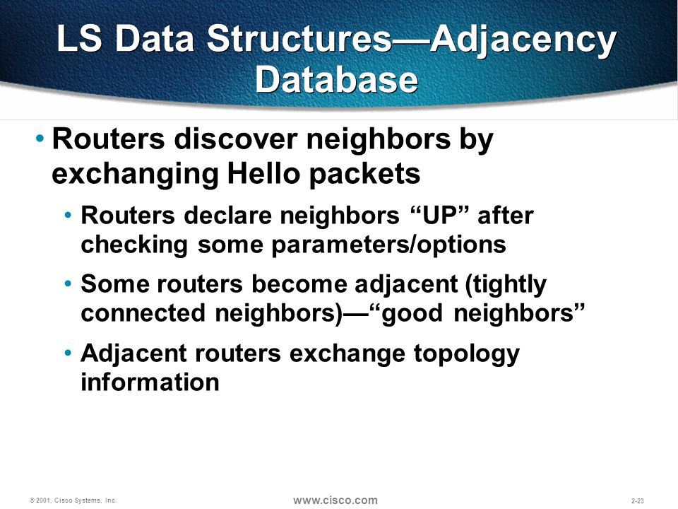 LS Data Structures—Adjacency Database