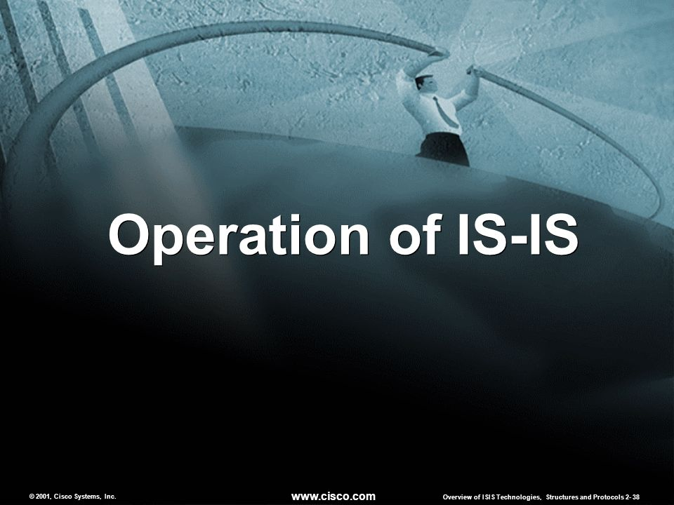Operation of IS-IS www.cisco.com © 2001, Cisco Systems, Inc.