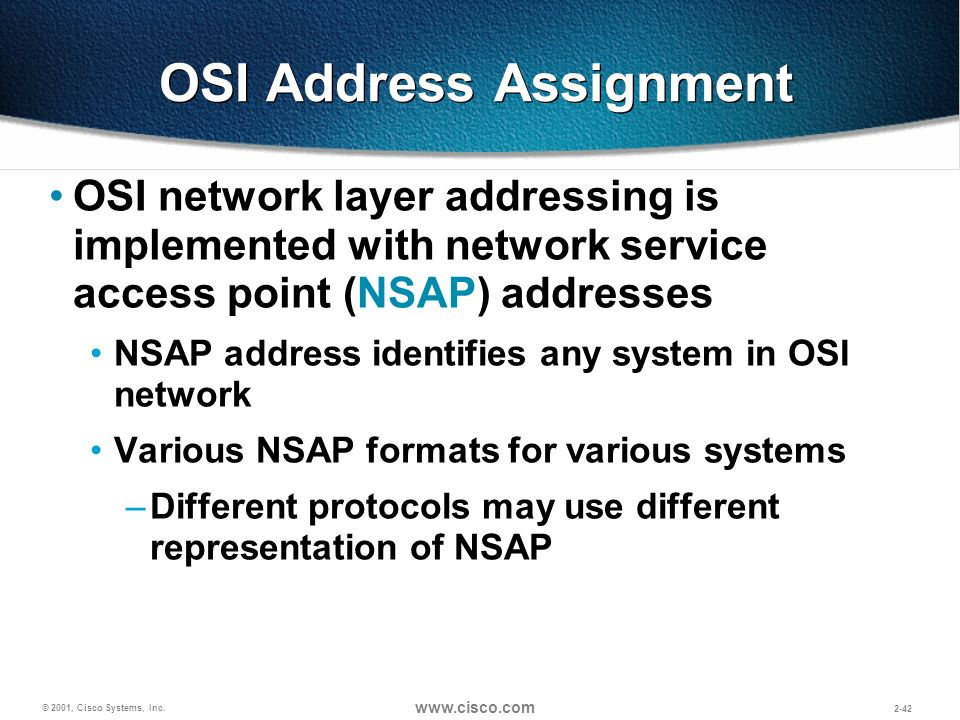OSI Address Assignment